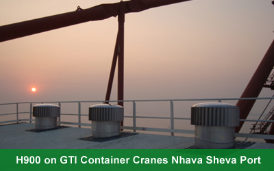 H900 on GTI Container Cranes Nhava Sheva Port